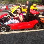 Kids enjoyed go-carts.