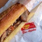 Sandwich poulet grillé pimenté