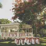 decorated beach gazebo