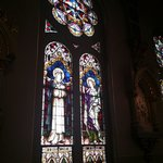 Stained glass window which was a Gift of the Cassidy Brothers