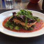 saumon tomates concassées courgettes