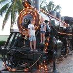 Playa Pesquero Train at the entrance