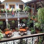 courtyard at San Francisco de Quito
