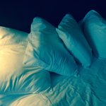 How pillows were when we arrived...wrinkled and not even neat