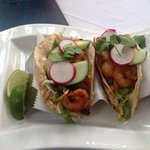 Spicy shrimp tacos were amazing !!