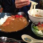 Katsu curry and a mini udon combo