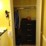 Drawer occupies closet space