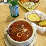 zuppa di mare - amazing seafood soup and ravioli feast!