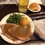Chewy roast beef dinner