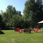 Barbecue & fire pit area