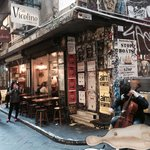 Cool cafe in a funky laneway