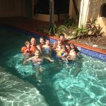 Grandkids were also in Port Douglas, enjoyed swim @ Villa