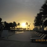 Sun Raise at Relaxation Pool