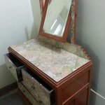 only furniture in room