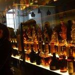 Colección exterior de botellas raras