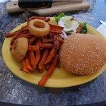 Burger con patate dolci