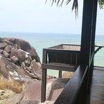 Private patio of Rumah Laut