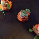Scallops with Chorizo starter! 👍😃