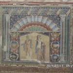 Example of stunning mosaic work preserved in volcanic mud