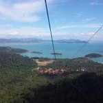 Beautiful view from cable car down back to 1st station :) breathtaking. Saw the brown kite birds