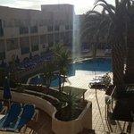 Pool area on 1st August 2014