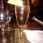 sparkling wine with liquer