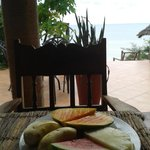 Fresh fruits for your breakfast with a view