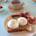 Freshly cooked breakfast and loose leaf tea.....yummy!!
