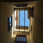 Blick vom Patio in den Himmel