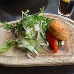 Starter of Goats Cheese Salad