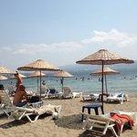 Piaj manzarası girişi kucuk taşlık olsada kafa dinlenecek guzel bir plaj