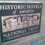 Historic hotels sign