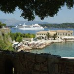 cruise ship entering corfu port