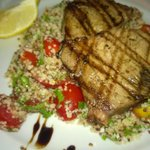 Chicken with Quinoa... the only place so far I discovered serving quinoa