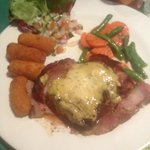 My incredibly delicious Fillet Mignon with Béarnaise sauce, vegetables and Dutch croquets.