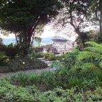 giardino interno dell'albergo