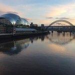 Sage centre and Tyne Bridge (taken from Millennium Bridge)