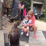 Myself, baby & penguin.