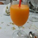 Maravilloso sorbete de mandarina