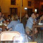 Outside seating in Corte Cadrega