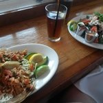 Lobster taco's and Dungeness Crab Louie