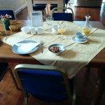 Breakfast table layout ..