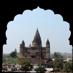Chaturbhuj temple as seen from Raj Mahal