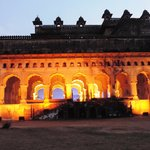 Raj Mahal-Diwan-i-am lighted up during the light and sound show