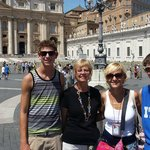 Francesca with us in St. Peters Square