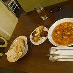 Fish soup & Fried bread & fritter