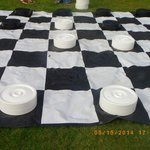 Chess on the lawn