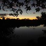 Sunset over Lago Sandoval