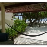 hammock of the beach front villa