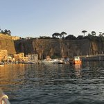Arriving back at the harbour in Sorrento